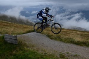 Mountain biker in Ben Nevis